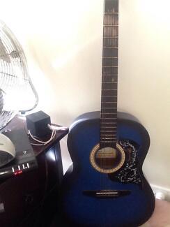 Freedom guitar blue