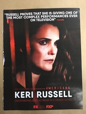 THE AMERICANS: Emmy Awards RARE advertisement ad FOR CONSIDERATION: KERI RUSSELL