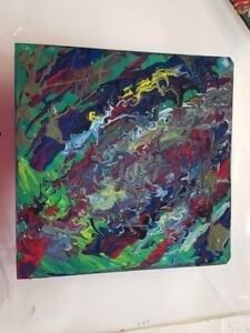 Abstract modern oil painting on canvas