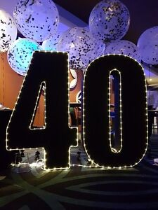 40th birthday number light Wetherill Park Fairfield Area Preview