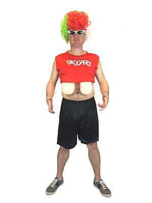 Erwachsene Herren Wampir Drache Droopers Brüste Lustiges Kostüm Junggesellen