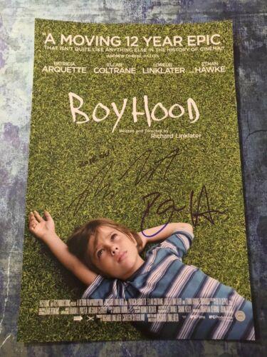 GFA Ethan Hawke & Richard Linklater * BOYHOOD * Signed 12x18 Photo AD3 COA