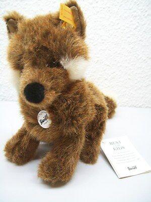 Steiff Fuxy Baby Fuchs 18 cm Stofftier Plüschtier 070136 sitzend braun Fox