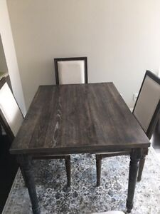 Rustic wood Table from Wayfair and Dining chairs from Decorium!