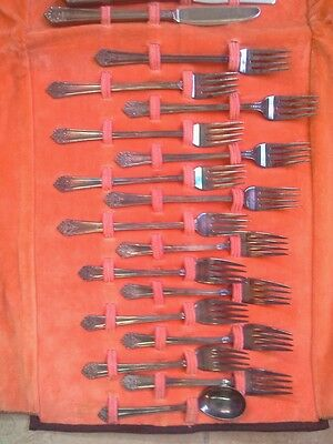 VINTAGE RARE ANTIQUE1847 RODGERS BROS.VIANDE INSICO STAINLESS SILVERPLATE SET