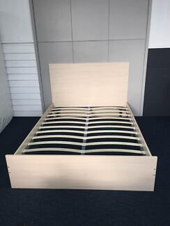 Brand New Wooden Cream Bed Frame Elegant Style