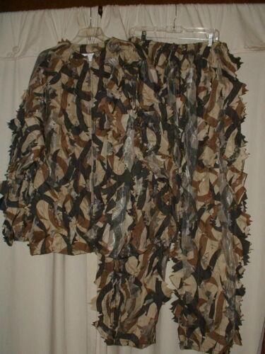 ASAT Leaf Cut & Mesh Camouflage Ghillie Suit Pants & Jacket XL