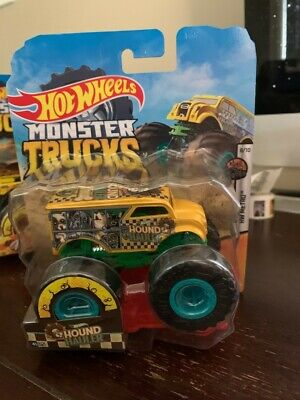 GIANT HOT WHEELS MONSTER TRUCKS 1:64 HOUND HAULER #41/75