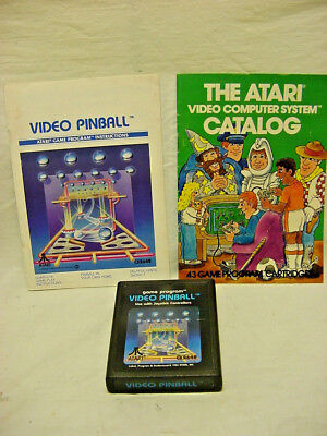 VIDEO PINBALL Atari 2600 COMPLETE w/ Manual & Catalog FREE SHIPPING!