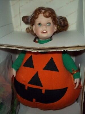 Lil' Punkin Halloween Doll The Hamilton Collection Artist Laura Cobabe  NRFB