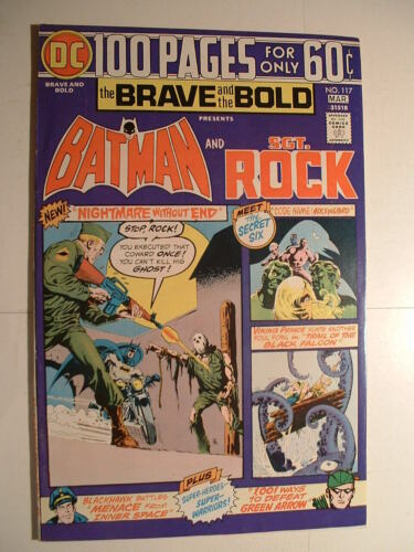 Brave and the Bold #117 - DC 1975 - 100 Pages! With Sgt. Rock!