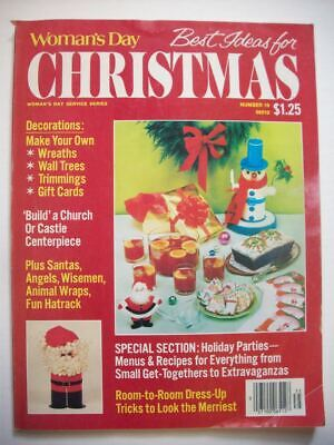 1970's Woman's Day best Ideas for Christmas decor crafts patterns  food recipes - 1970s Decorating Ideas