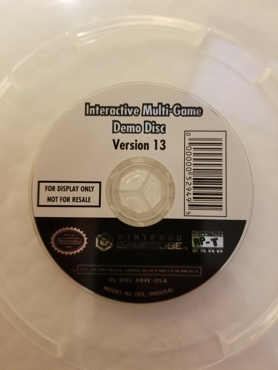 Nintendo GameCube INTERACTIVE MULTI-GAME DEMO DISC Version 13 DISC ONLY