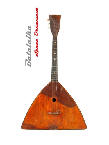 Rare Ukrainian National folk folklore instrument BALALAIKA - 3 string  Space