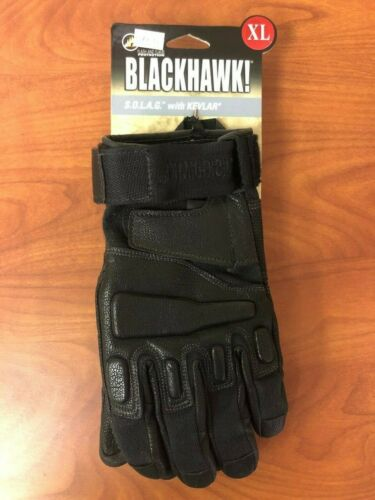 Blackhawk SOLAG Made with Kevlar Assault Gloves 8114XLBK XL Black Authentic