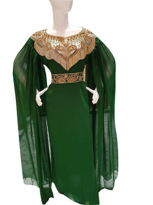 GET THIS MODERN CHEAP MAXI BOTTLE GREEN FARASHA PARTY WEAR DRESS FOR WOMER - Cheap Party