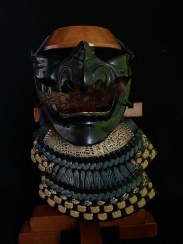Japanese Antique Samurai Yoroi Kabuto MENPO Facial Armour (b298)