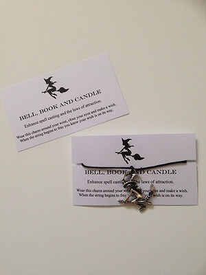 Bell Book Candle Witch Handmade Charm Wish Bracelet Good Witch Halloween - Halloween Well Wishes