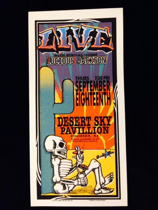 LIVE-LUCIOUS JACKSON-DESERT SKY PAVILLION-CONCERT HANDBILL-ARMINSKI SILKSCREEN