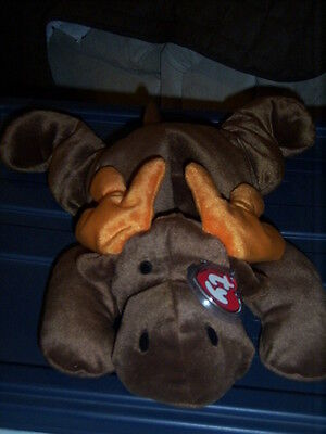 72fbc18b4ac RETIRED TY PILLOW PALS ANTLERS THE MOOSE MINT with TAGS
