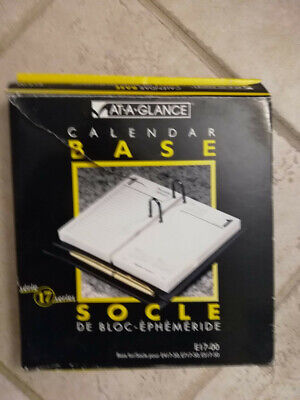At A Glance Calendar Base Black Plastic 2-rings 3.5 X 6.5 Series 17 E17-00