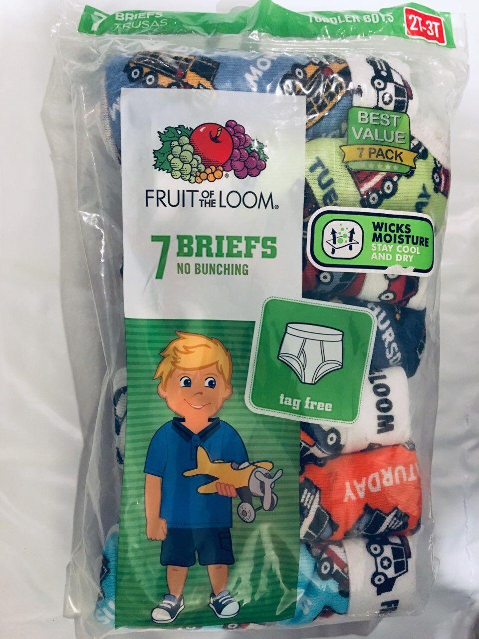 Fruit of the Loom Toddler Boys Cars/Trucks 7 Pack Days of th