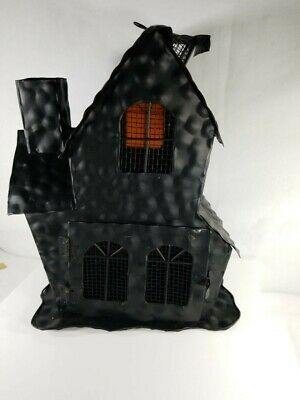 2 Candle Metal Handmade Halloween Decor Ghost House - Halloween Handmade Decorations