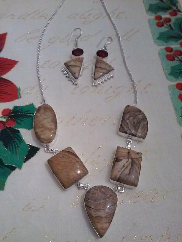 Wholesale Necklace &Earring Sets Semi Precious Stone Sets