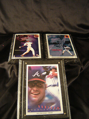 baseball framed pictures Nomar Garciaparra Kenny Lofton Ryan Klesko MLB Braves