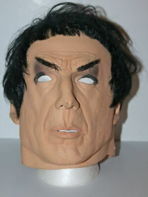 Vintage 1996 RUBIES #2530 Star Trek Mr. Spock Real Hair Halloween Costume Mask - Captain Kirk Mask Halloween