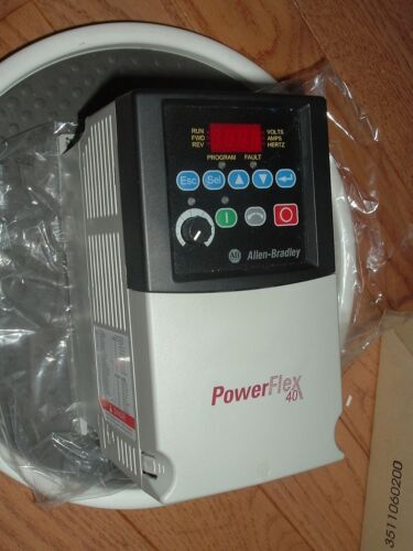Allen Bradley (AB) 1HP, 0.75kW motor drive p/n 22B-D2P3N104. 480V,3 phase,3.2A