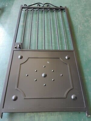 Wrought Iron Single Gate 2mtr x 1mtr - Ready to paint - Collection Item- Parma