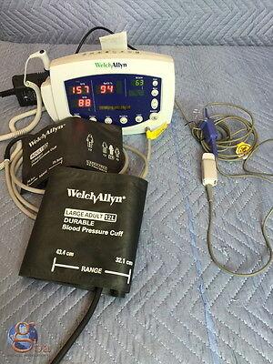 Welch Allyn Patient 53ntp Monitor 53000 Temp Spo2 Nibp Printer Warranty New Batt