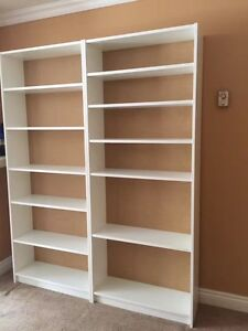 White all assembled finish two book shelves