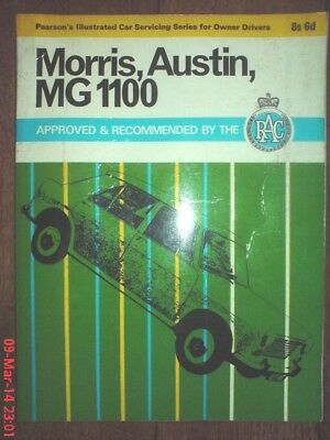 Pearson's illustrated car servicing, Classic car manual Morris, Austin, MG 1100