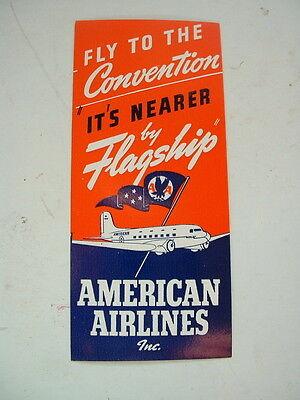 ORIGINAL 1940s/50s AIRLINE LABEL AMERICAN AIRLINES DC3