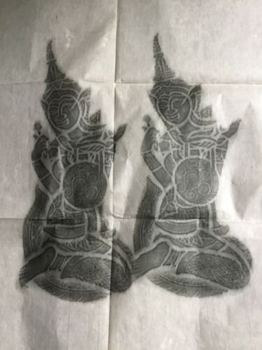 Temple rubbings  -  purchased in 1967 in Bangkok Thailand