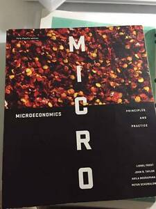 MICROECONOMICS PRINCIPLES AND PRACTICE & MACROECONOMICS PRINCIPLE Marsfield Ryde Area Preview