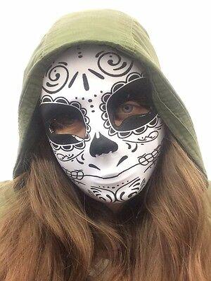 Erwachsene Gesichtsmaske Tag der Toten Knochen Skelett Halloween Zubehör - Tag Der Toten Gesicht Kostüm