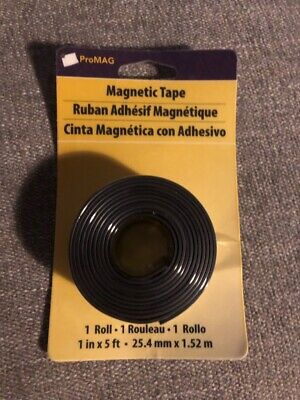 Brand New Roll Promag Magnetic Strip Tape 1 X 5 Feet Cut To Size 12503