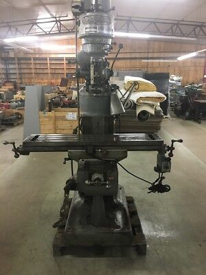 Bridgeport Milling Machine With Servo 150 Power Feed And Tibon Chrome Ways