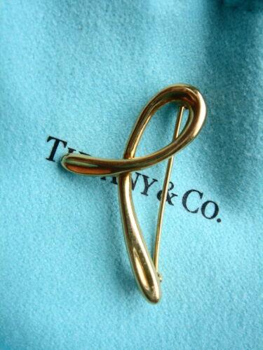 Tiffany & Co Elsa Peretti 18k Yellow Gold Brooch Pin 4.5gr