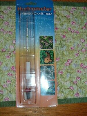 HYDROMETER THERMOMETER FOR AQUARIUM-FLOATING TYPE SEE DESCRIPTION BELOW