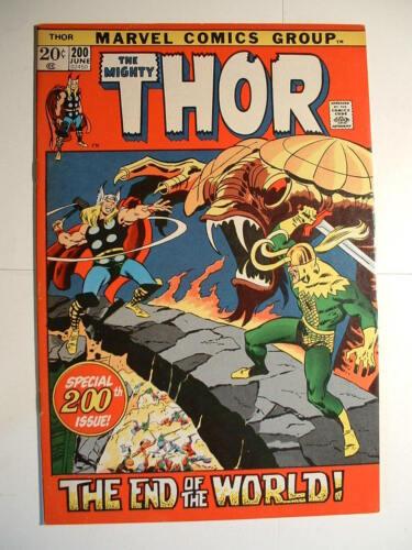 Thor #200 - Marvel 1972 - Midgard Serpent!  Surtur! And Loki, too!