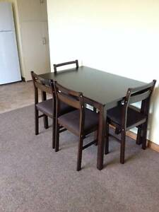 Dining Set Espresso with 4 chairs Hobart CBD Hobart City Preview