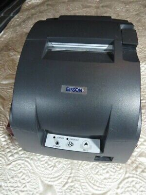 Epson Tm-u220b Receiptkitchen Printer With Brand New Black Ribbon And Cord