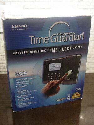 Amano Time Guardian Fpt-40 Biometric Fingerprint Scanner Time Clock New