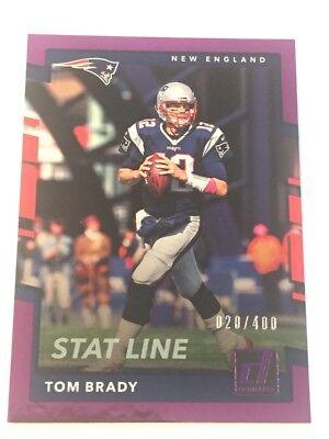 Tom Brady 2017 Donruss Stat Line Purple Foil  64  Serial  20 400 Patriots