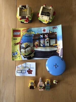 Lego SpongeBob SquarePants minifigs 3833 Krusty Krab Adventures Incomplete