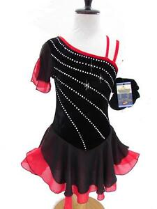 Figure-Ice-Skating-Dance-Twirling-Baton-Costume-Dress-Child-M